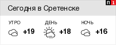 Погода в Сретенске - pogoda1.ru